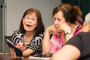 Women in literacy class